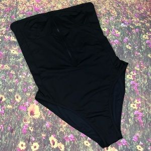 J. Crew black high leg black swimsuit